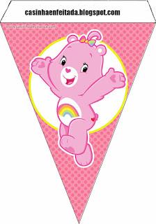 Banderines para Fiesta de Care Bears  para imprimir gratis.