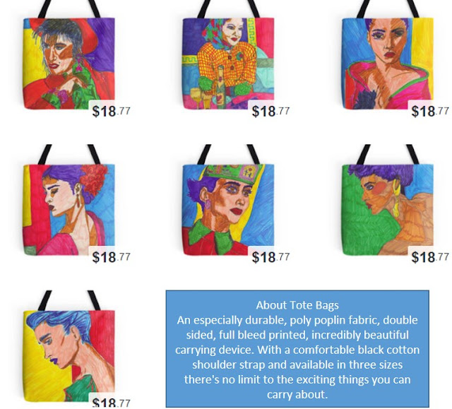 Painted Ladies - Printed on Tote Bags
