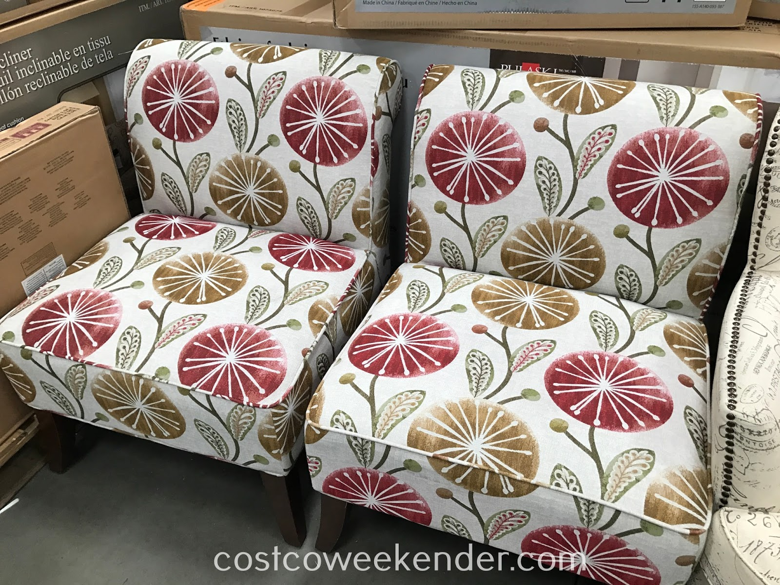Ave Six 3 Piece Fabric Chair And Accent Table Set Costco