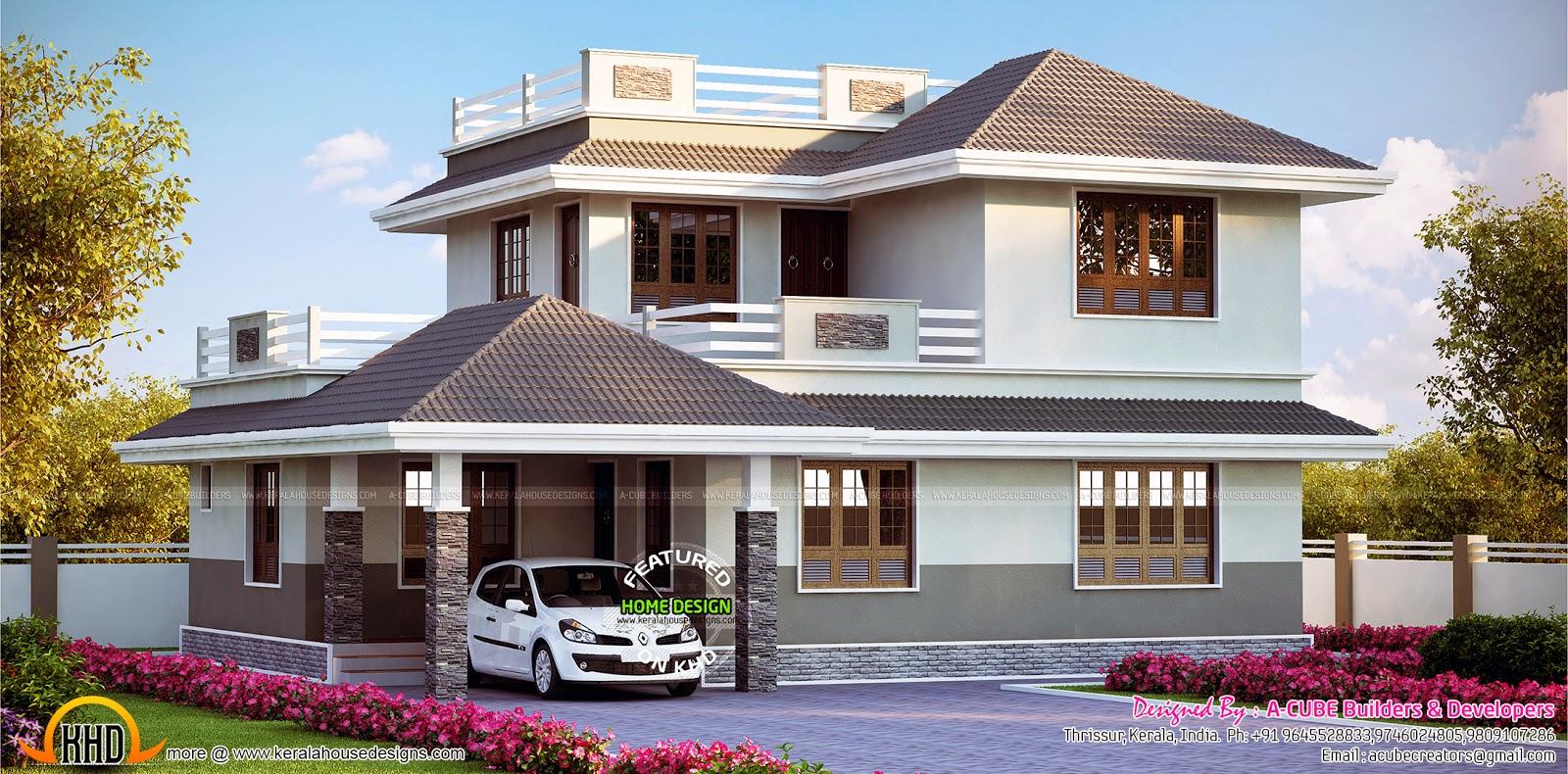 Kerala home design and floor plans beautiful kerala home for Kerala house models 2016