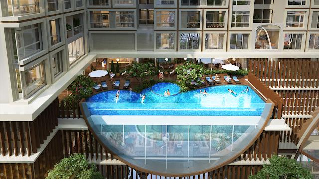 bể bơi vô cực chung cư Hinode City Minh Khai