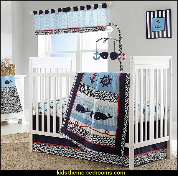 Whale of a Tale   Baby Crib Bedding Set by Nautica Kids
