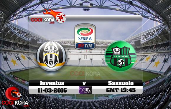 مشاهدة مباراة يوفنتوس وساسولو اليوم 11-3-2016 في الدوري الإيطالي