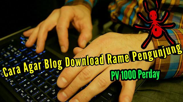 Cara Meningkatkan traffic pengunjung Blog Download