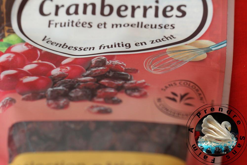 Mendiants aux cranberries et framboises