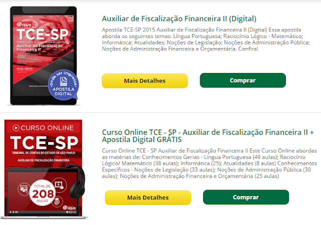 Curso Online TCE SP grátis para Auxiliar de Fiscalização Financeira