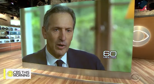 Howard Schultz says a far-left Democrat could re-elect Trump