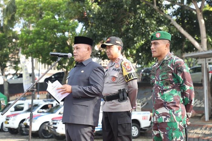 Plt Bupati Nanang Ermanto Gelar Pasukan Jelang Kampanye Terbuka dan Pemilu Serentak 2019