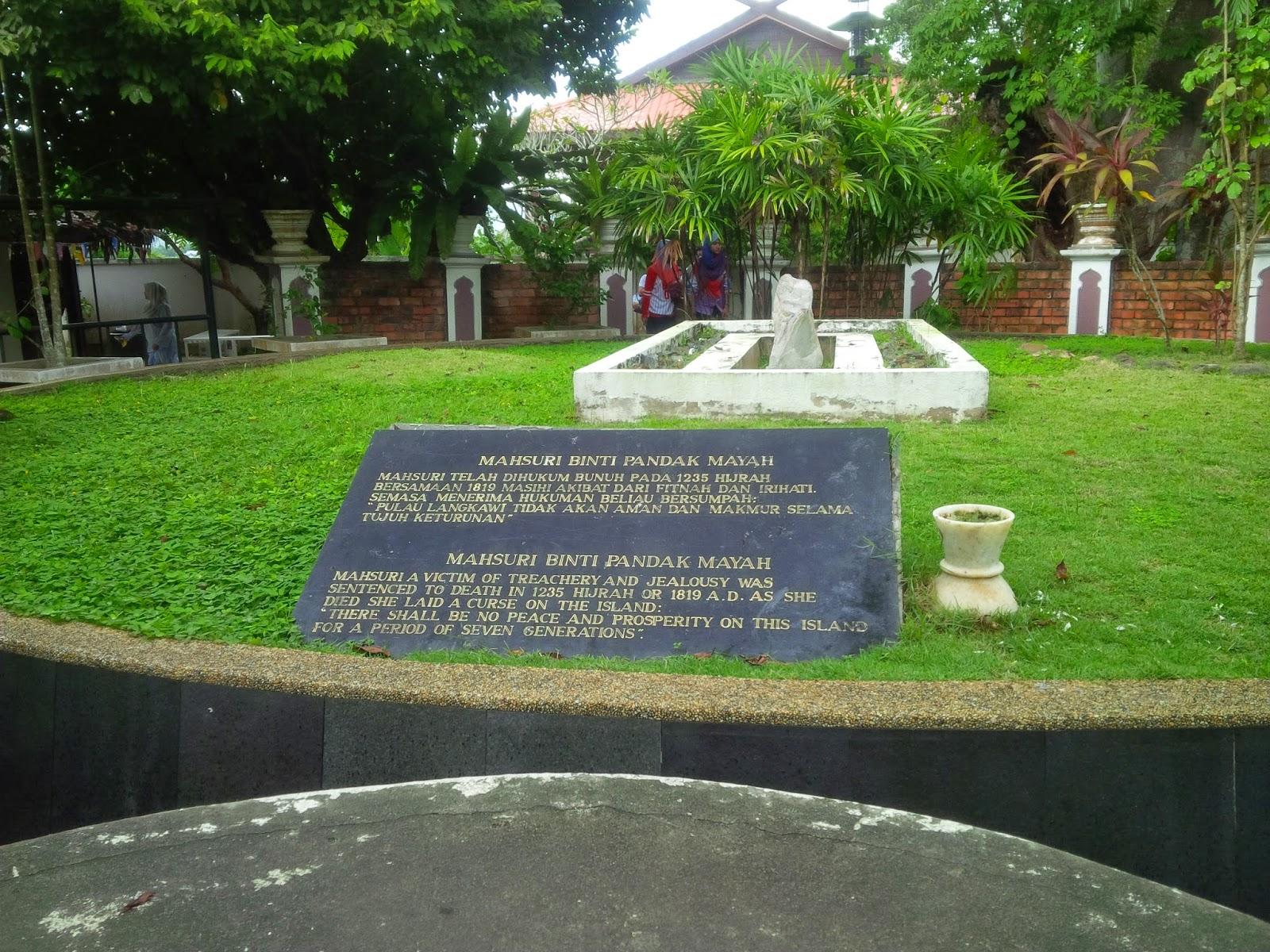 Makam Mahsuri, mahsuri mausoleum, maksuri tomb, langkawi, padang matsirat, mahsuri legend, classic malay architecture, tourism, travel