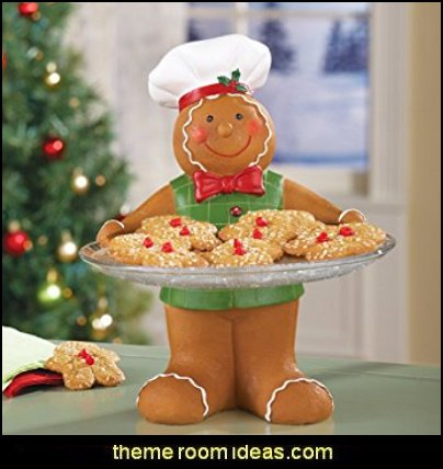 Holiday Gingerbread Baker Serving Tray  christmas kitchen decorations - Christmas table ware - Christmas mugs  - Christmas table decorations - Christmas glass ware - Holiday decor - Christmas dining - christmas entertaining - Christmas Tablecloth - decorating for Christmas - Santa mugs - Christmas Cookie Cutters  - snowman and reindeer kitchen  accessories - red cardinal kitchen decor