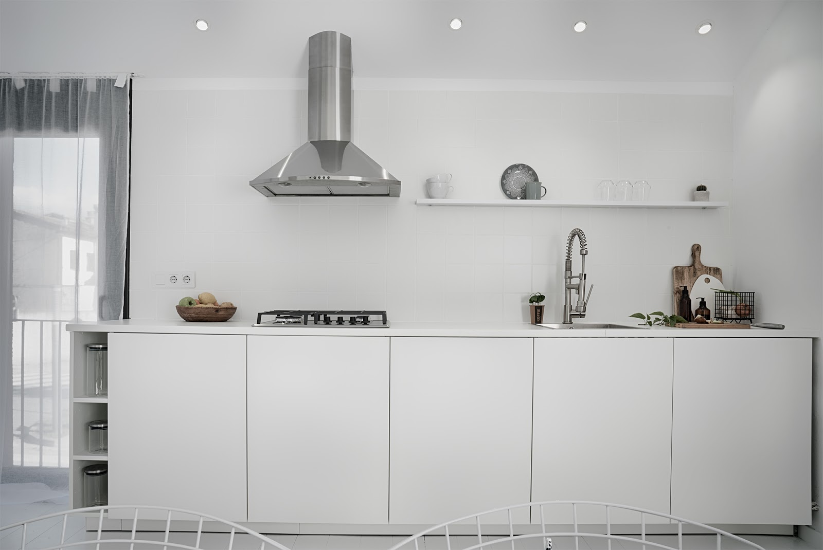 cocina abierta, cocina, kitchen, concepto abierto, estilo nordico, interior, white, kitchen, ikea,