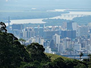 Gasômetro, Ponte do Guaíba e Estádio Olímpico - Porto Alegre (RS)