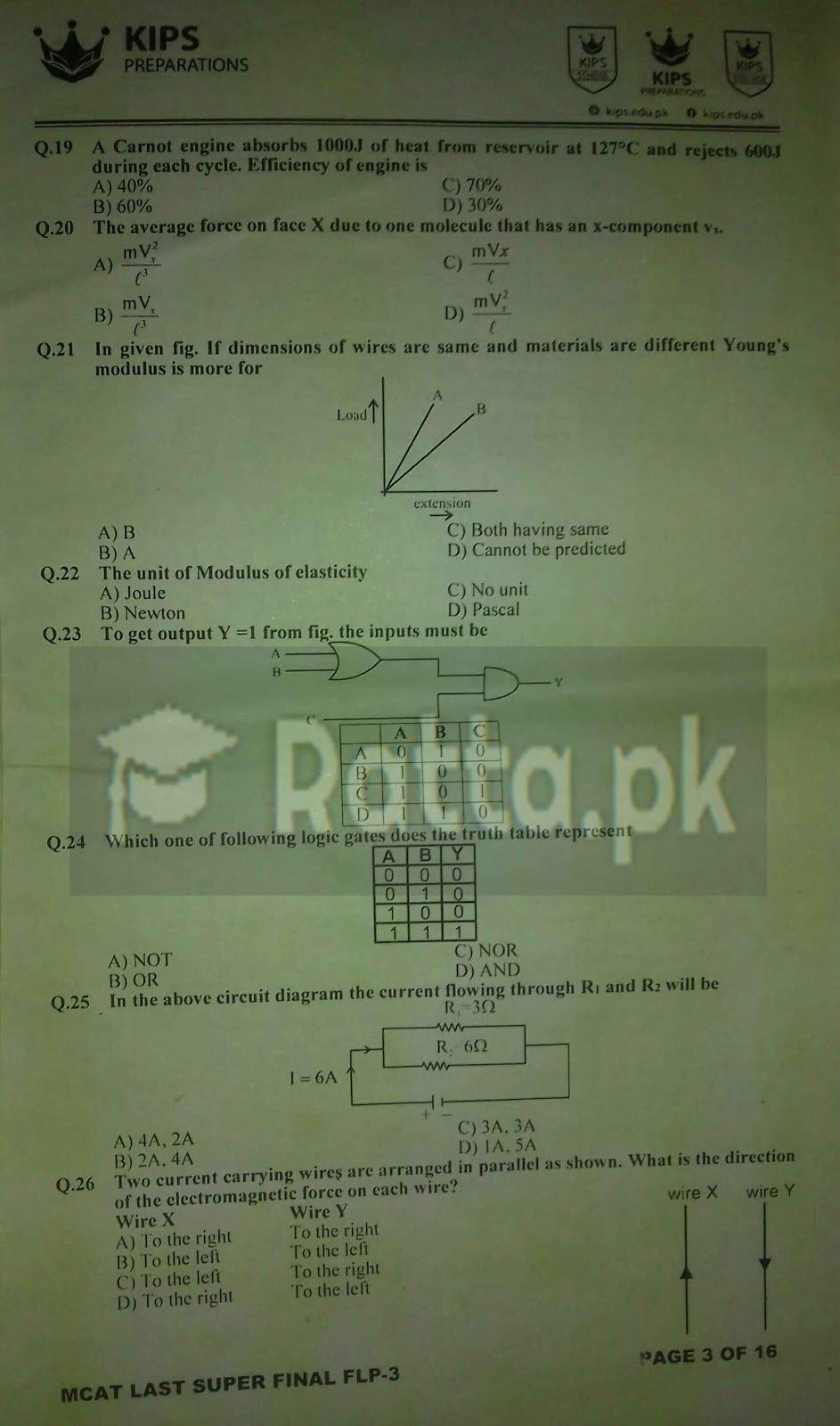 KIPS MCAT Papers 10