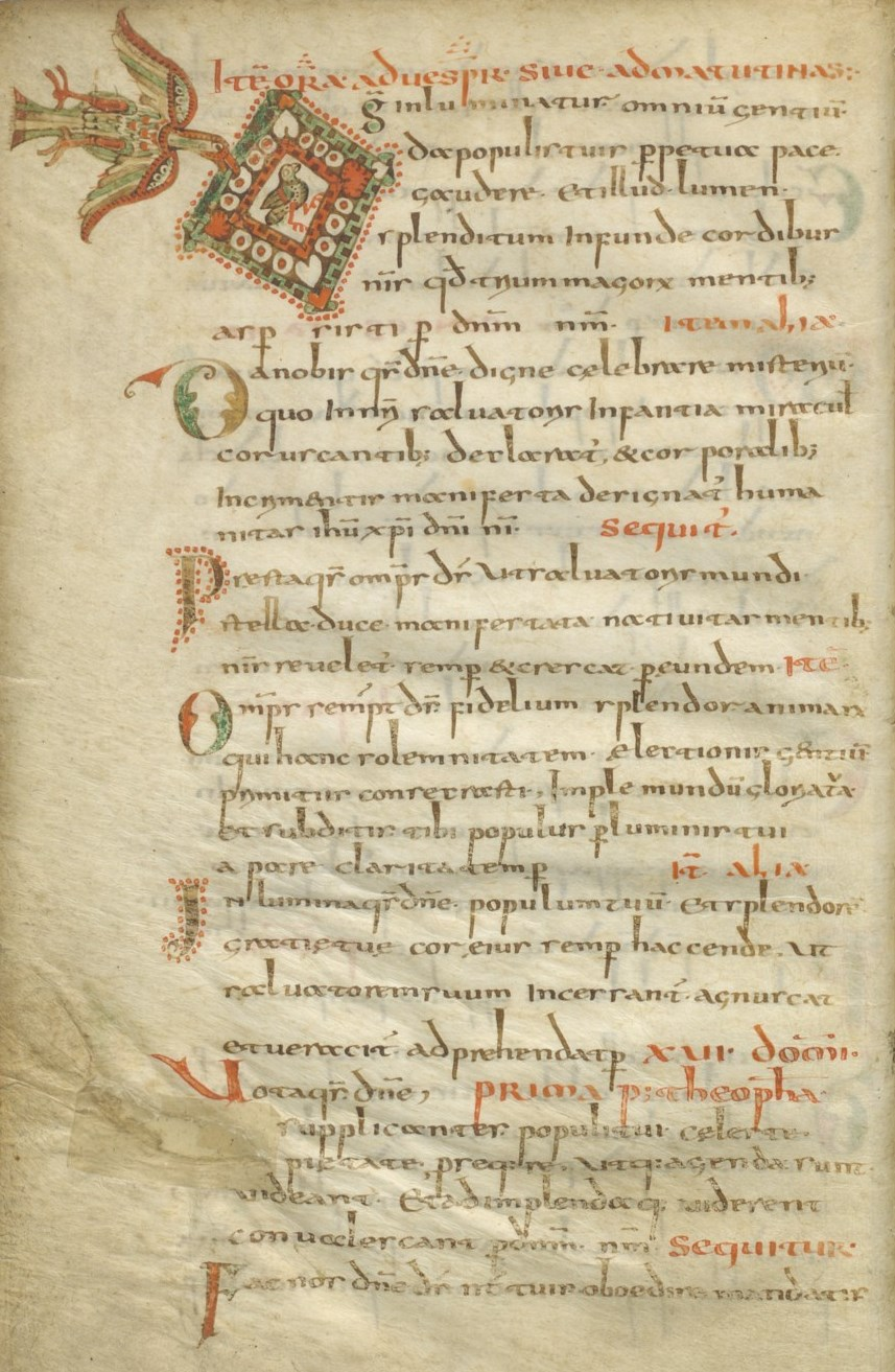 folio 11v of the gellone sacramentary a gelasian type sacramentary dated 780 800 at the top are several office prayers for the epiphany - When Does Christmas End