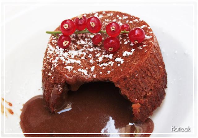Fondant chocolat  caramel du restaurant Millésimes 62