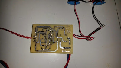 water level controller PCB track side layout