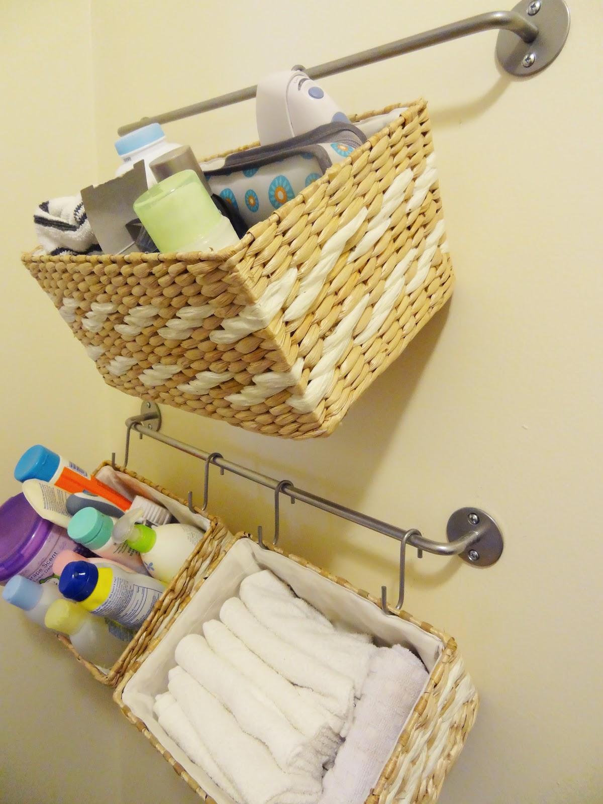 Diy Hanging Bathroom Storage Baskets Revamp Homegoods