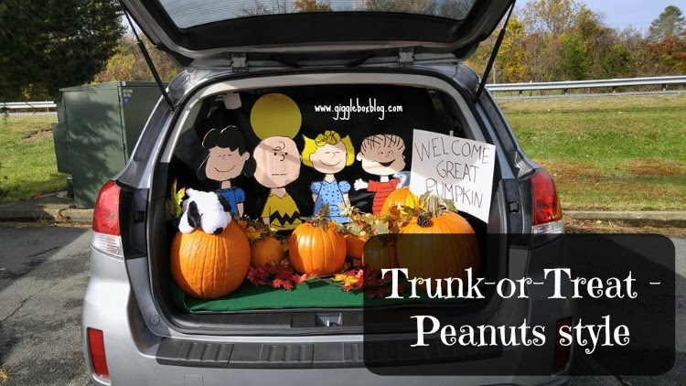 how to make a peanuts theme for trunk or treat creating the pumpkin