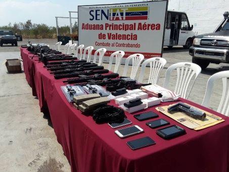 Incautan en Venezuela armamento proveniente de EE.UU.