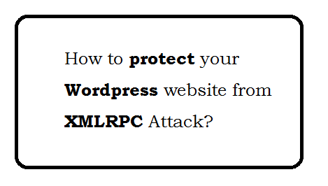 How to protect your wordpress website from xmlrpc