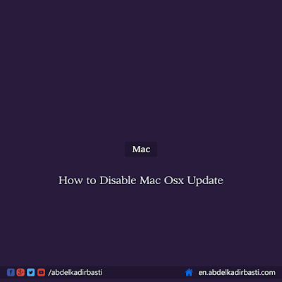 How to Disable Mac OS X Update