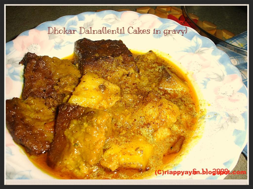 Dhokar Dalna (Lentil Cakes in a spicy gravy) ~A Bengali