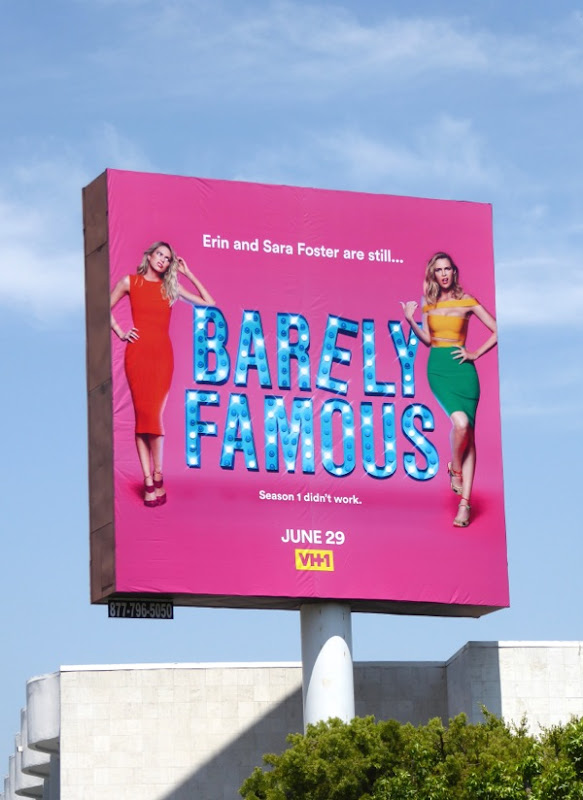 Barely Famous season 2 billboard