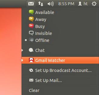 Indicador de mensagens do Ubuntu