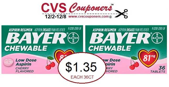 http://www.cvscouponers.com/2018/12/Bayer-Aspirin-Chewable-Tablets-CVS-deal.html