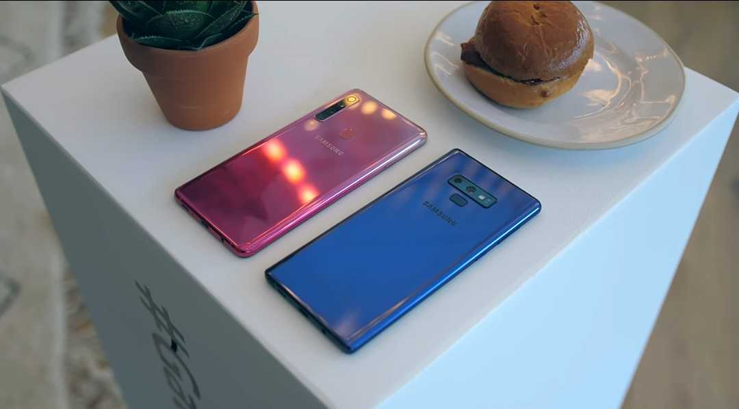 Galaxy A9 body and design.
