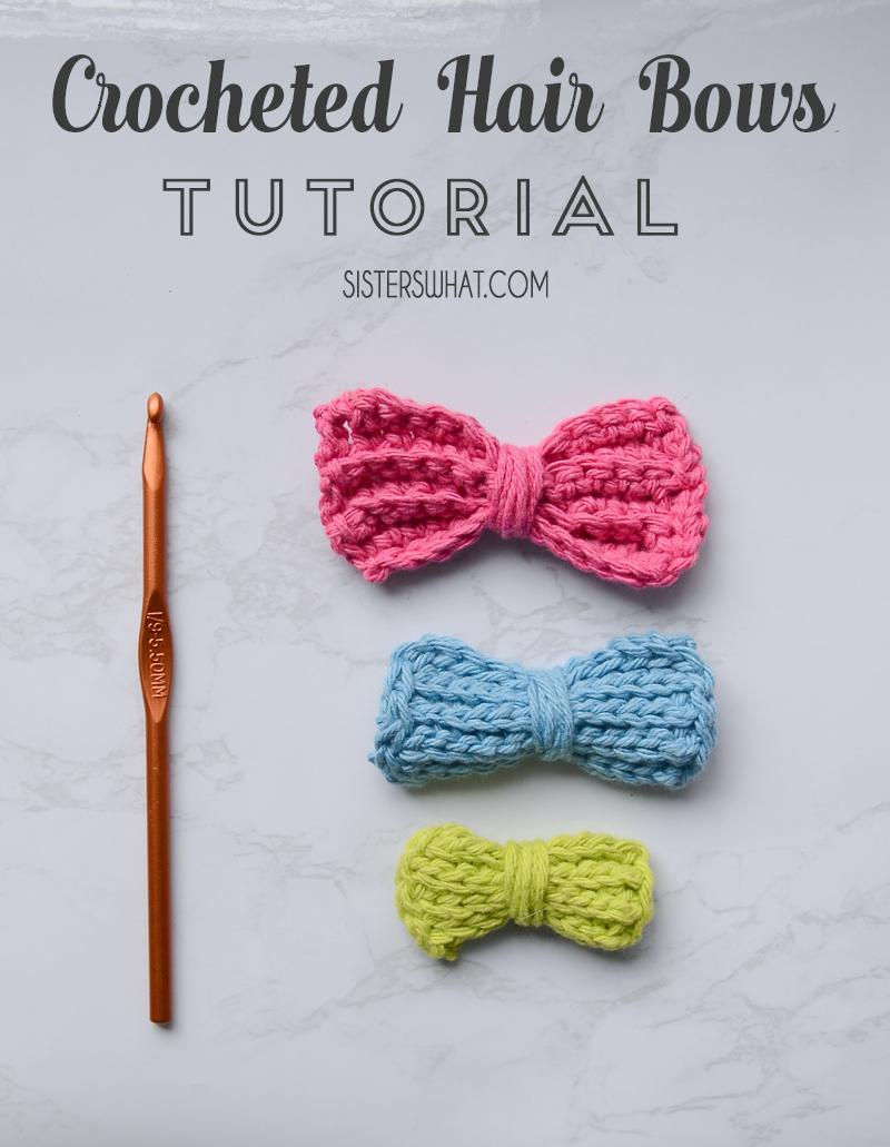 Crocheted hair bow tutorial