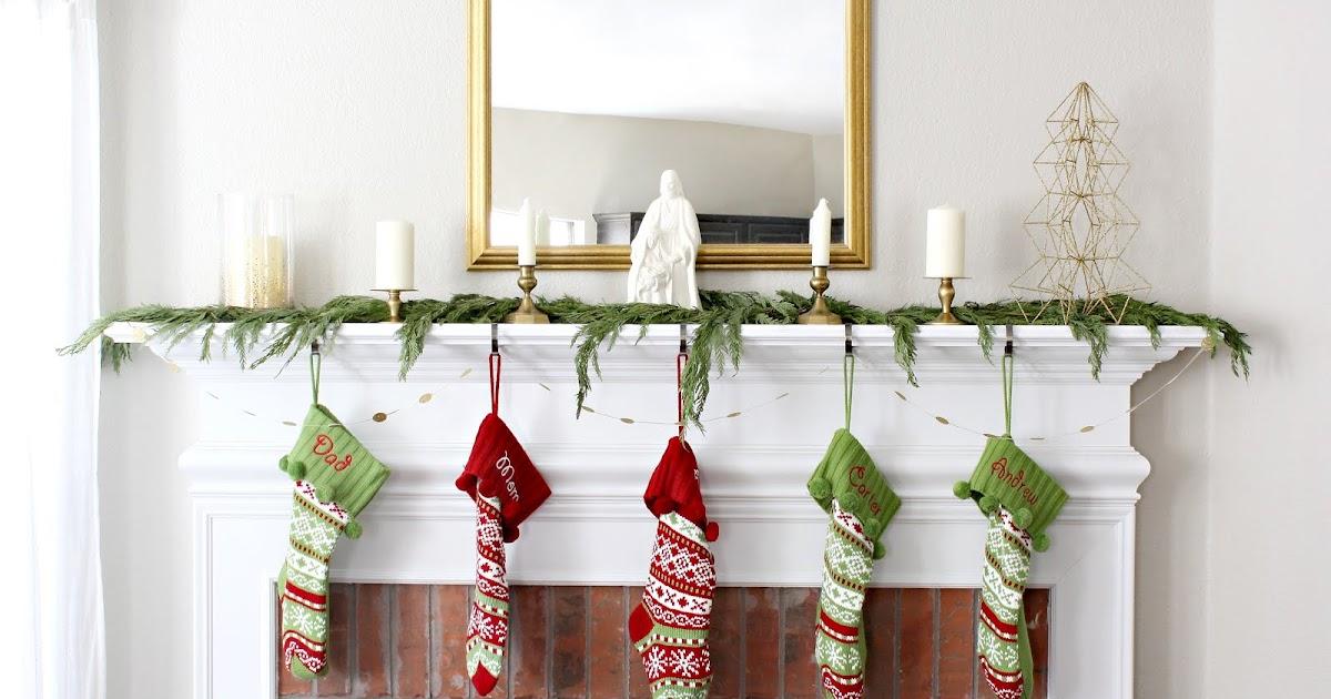 Mid Mod Inspirations Christmas Mantle 2015