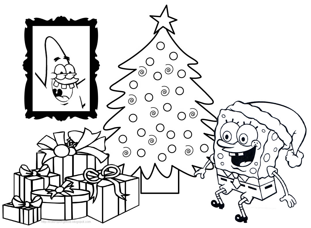 spongebob coloring pages christmas - photo#13