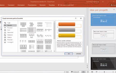 come aggiungere Elementi grafici SmartArt powerpoint