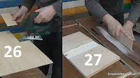 Cortar y ajustar la chapa de marquetería. http://www.enredandonogaraxe.com