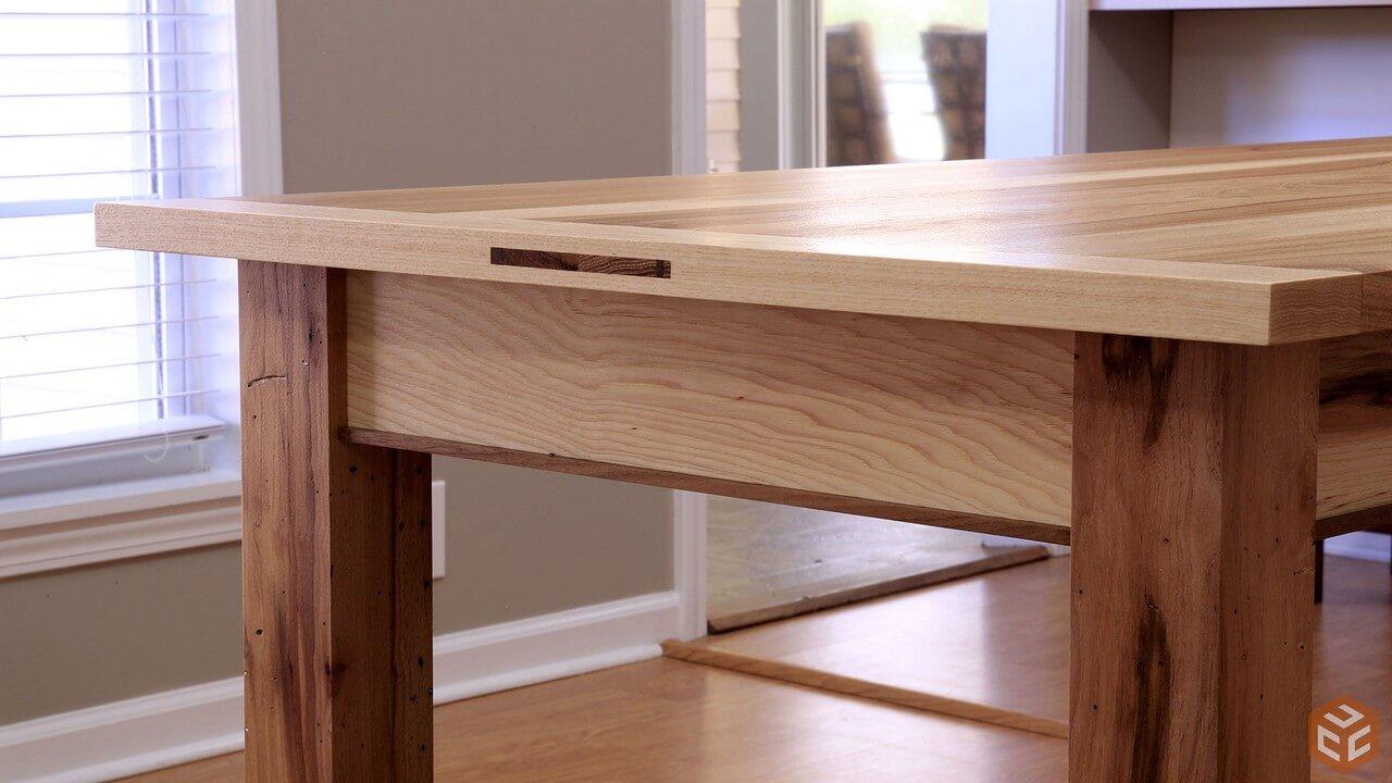 C mo construir una mesa de comedor de madera web del - Como construir una mesa ...