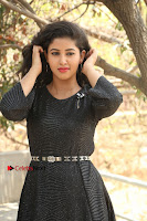 Telugu Actress Pavani Latest Pos in Black Short Dress at Smile Pictures Production No 1 Movie Opening  0016.JPG