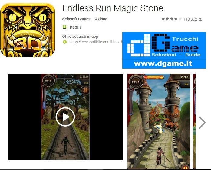 Trucchi Endless Run Magic Stone Mod Apk Android v2.7