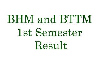 BHM and BTTM 1st Semester Regular Examination 2018 Result - TU