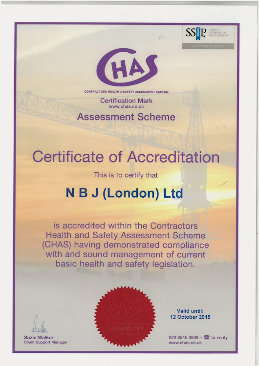 CHAS ACCREDITATION | NBJ LONDON