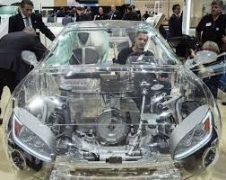 Example of transparent car