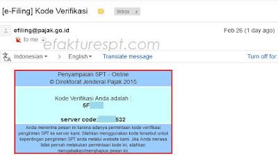 Tanda Terima e-Filling Tidak Terkirim ke email