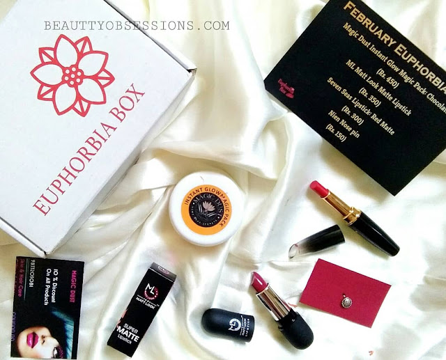 Unboxing February Euphorbia Box | India's Most Affordable Beauty Subscription Box