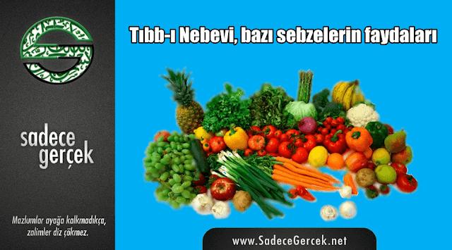 Tıbb-ı Nebevi, bazı sebzelerin faydaları