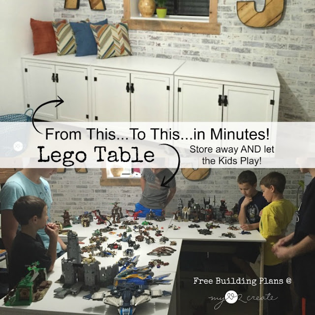 DIY Lego Table Building Plans, MyLove2Create