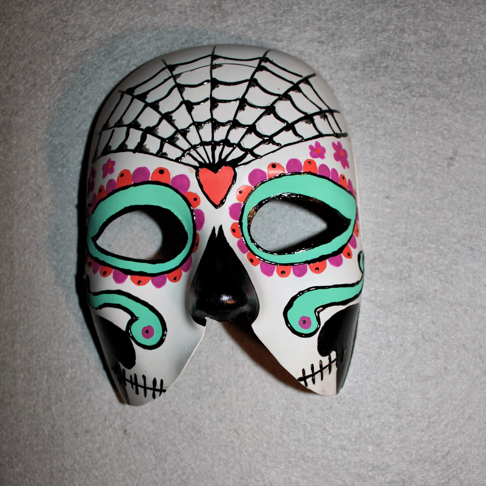 Mask Decorating Ideas: Form Phantasm: DIY: Day Of The Dead Mask