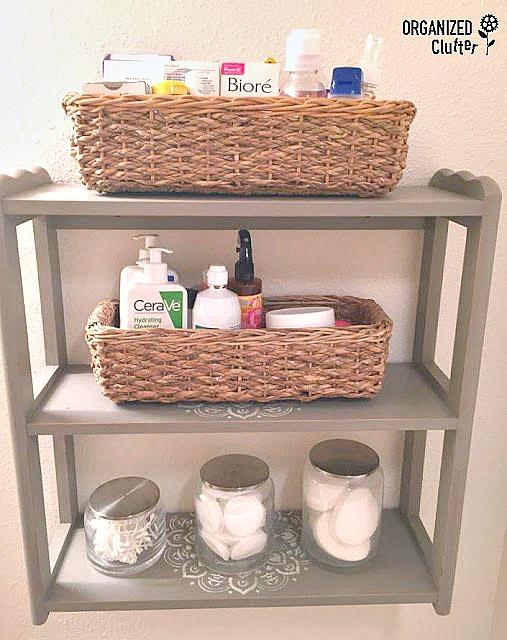 Thrift Shop Makeover: Upcycled Bathroom Storage