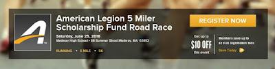 American Legion 5 Miler Scholarship Fund Road Race - June 25