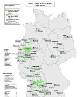 Umwelzonen in Deutschland