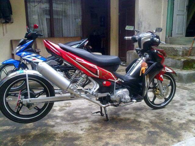 Modifikasi Motor Yamaha Jupiter Z 2010 Long Arm